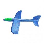 Большой самолет-планер с подсветкой, синий