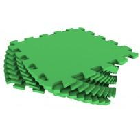 Мягкий пол из пазлов 33МП/361, зеленый 1 кв.м - 9 деталей, 33x33