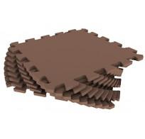 Мягкий пол из пазлов 33МП/4625, коричневый 1 кв.м - 9 деталей, 33x33