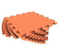 Мягкий пол из пазлов 33МП/1585, оранжевый 1 кв.м - 9 деталей, 33x33,  Коврик-пазл ЭкоПолимеры