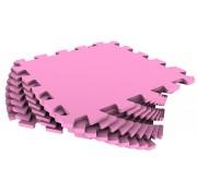 Мягкий пол из пазлов 33МП/210, розовый 1 кв.м - 9 деталей, 33x33