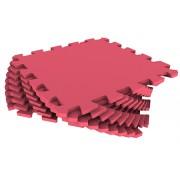 Мягкий пол из пазлов 33МП/186, красный 1 кв.м - 9 деталей, 33x33
