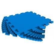 Мягкий пол из пазлов 33МП/3005, синий 1 кв.м - 9 деталей, 33x33
