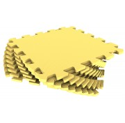 Мягкий пол из пазлов 33МП/120, желтый 1 кв.м - 9 деталей, 33x33