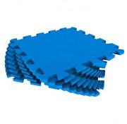 Мягкий пол - пазл 30 МП /3005 Синий 1 кв.м, 9 деталей 30x30
