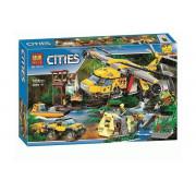 Конструктор Lari (Бела) Cities Вертолет для доставки грузов в джунгли  10713