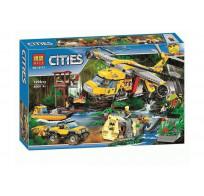 Конструктор BELA Cities Вертолет для доставки грузов в джунгли  10713