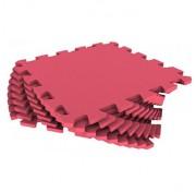 Мягкий пол - пазл 30 МП /186 Красный 1 кв.м, 9 деталей 30x30