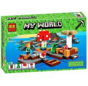 Конструктор BELA My World Грибной остров 10619 Майнкрафт