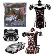 1toy Робот на р/у 2,4GHz, трансформирующийся в спортивный автомобиль, 30 см, серебристый Т10856
