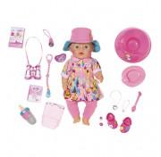 Baby born Zapf Creation 823-804 Бэби Борн Кукла Интерактивная в теплой одежде, 43 см