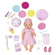 Baby born Zapf Creation 824-054 Бэби Борн Кукла Интерактивная Нарядная, 43 см