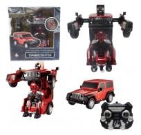 1toy Робот на р/у 2,4GHz, трансформирующийся в джип, 30 см, красный Т10860