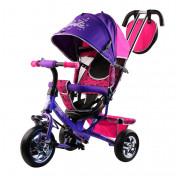 Трехколесный велосипед Barbie HB7 фиолетовый с пластиковыми колесами 10/8 Mattel