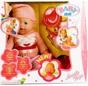 Функциональная кукла 42 см Baby Doll пупс плачет, пьёт, писает, сосет соску 9 функций 8001-K