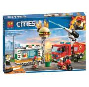 Конструктор Lari (Бела) Cities 11213 Пожар в бургер кафе 345 деталей