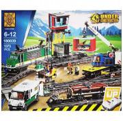 Игровой Электромеханический конструктор на пульте управления Lion King Cities 180039 Товарный поезд 1373 детали