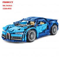 Конструктор 701941 Sembo Block спорткар Bugatti Chiron 1220 деталей