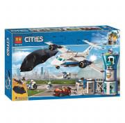 Конструктор LARI (BELA) City 11210 Воздушная полиция авиабаза 559 дет