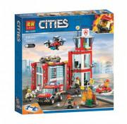 Конструктор City LARI (BELA) 11215 Пожарное депо 533 детали