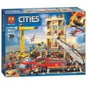 Конструктор City LARI (BELA) 11216 Центральная пожарная станция 985 деталей