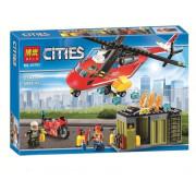 Конструктор BELA Cities 10829 Пожарная команда быстрого реагирования