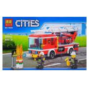 Конструктор Lari (Бела) Cities 10828 Пожарный автомобиль с лестницей