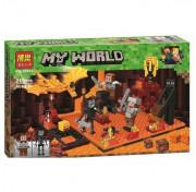 Конструктор BELA Minecraft Нападение на шахтеров в нижнем мире 10963 215 дет