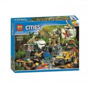 Игровой набор Конструктор Bela City 10712 Сити База исследователей джунглей (аналог LEGO 60161)