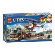 Игровой набор Конструктор Lari (Бела) Сити 10872 Cities Перевозчик вертолета