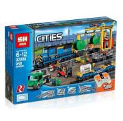 Игровой Электромеханический конструктор на пульте управления Lion King Cities 180027 Грузовой моторизированный поезд