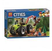Конструктор Lari (Бела) Cities 10870 Машина для заготовки леса