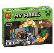 Конструктор Bela Minecraft Подземелье 10390 (Аналог Лего Minecraft 21119) 219 дет