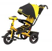 Детский трехколесный велосипед Super Formula с ручкой SFA3Y, надувные колеса 12/10, с поворотным сиденьем на 180 градусов