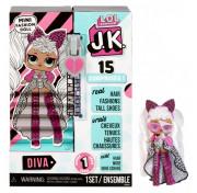 Мини Кукла ЛОЛ сюрприз 9 см LOL Surprise! JK Diva Mini Fashion Doll с 15 сюрпризами 570752