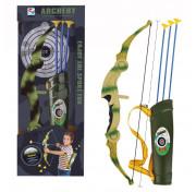 Игровой набор Junfa Лук камуфляжный складной со стрелами и колчаном,WA-14358