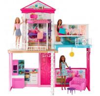 Набор игровой Barbie дом+куклы +аксессуары GLH56