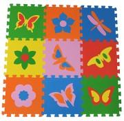Коврик-пазл 33МП1/Б, Бабочки 1 кв.м - 9 деталей 33x33