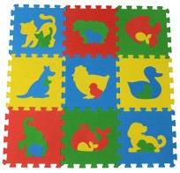 Коврик-пазл 33МП1/Ж, Животные 1 кв.м - 9 деталей 33x33