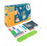 Большой подарочный набор 3Д Ручка с трафаретами 3DOODLER START МЕГА 3DS-MEGA-E-R-17 Wobble Works