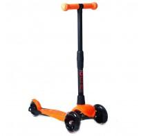 Детский трехколесный самокат кикборд Buggy Boom Альфа оранжевый, со складной ручкой