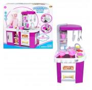 Кухня детская Помогаю Маме в наборе с аксессуарами Abtoys PT-00792 на батарейках