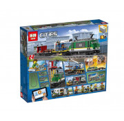 Конструктор Lepin Товарный поезд 02118 Аналог Lego 60198