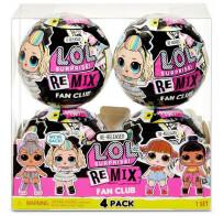 Куклы LOL Surprise! Remix Fan Club и 7 сюрпризов - комплект перевыпуск четырех любимых кукол 422563