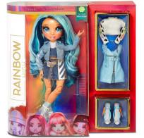 Кукла Rainbow High Surprise Dolls Skyler Bradshaw голубая Fashion Doll с двумя нарядами 569633 MGA Entertainment