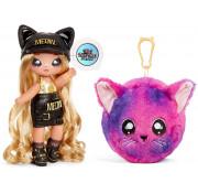 Кукла мягкая Na Na Na surprise девочка-кошка Sasha Scratch 3 серия (голова кошечки) 571711