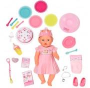 Интерактивная Кукла Нарядная с тортом Бэби Борн Baby born 825-129 Zapf Creation, 43 см