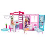 Barbie Кукольный домик с мебелью и аксессуарами FXG55 Mattel