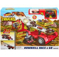 Hot Wheels Игровой набор Mattel Монстр-Трак игровой набор Передвижной трамплин GFR15 Хот Вилс