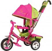 Детский трехколесный велосипед TRIKE Beauty B2GP розово-зеленый, ПВХ колеса 10/8